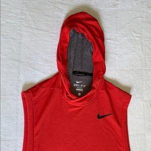 Nike cutoff hoodie